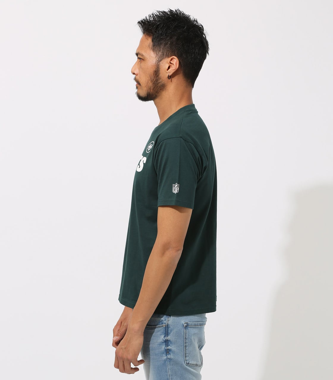 【AZUL BY MOUSSY】NFL JETS TEE 詳細画像 D/GRN 5