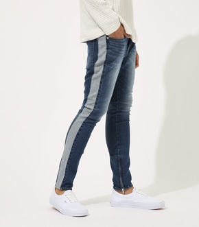 【AZUL BY MOUSSY】SIDE LINE ZIP SKINNY