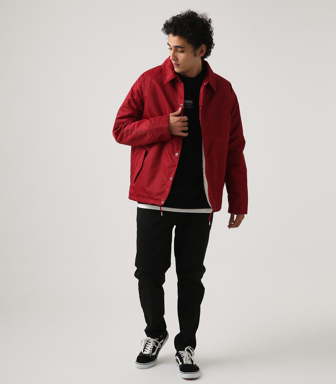 【AZUL BY MOUSSY】ヘビーツイルボアコーチジャケット 詳細画像 RED 4