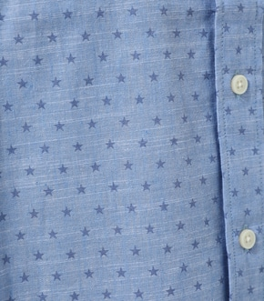 【AZUL BY MOUSSY】LINEN STAR PATTERN SHIRT 詳細画像