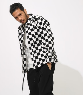 【AZUL BY MOUSSY】CHECKERED FLAG BLOUSON【MOOK50掲載 90193】