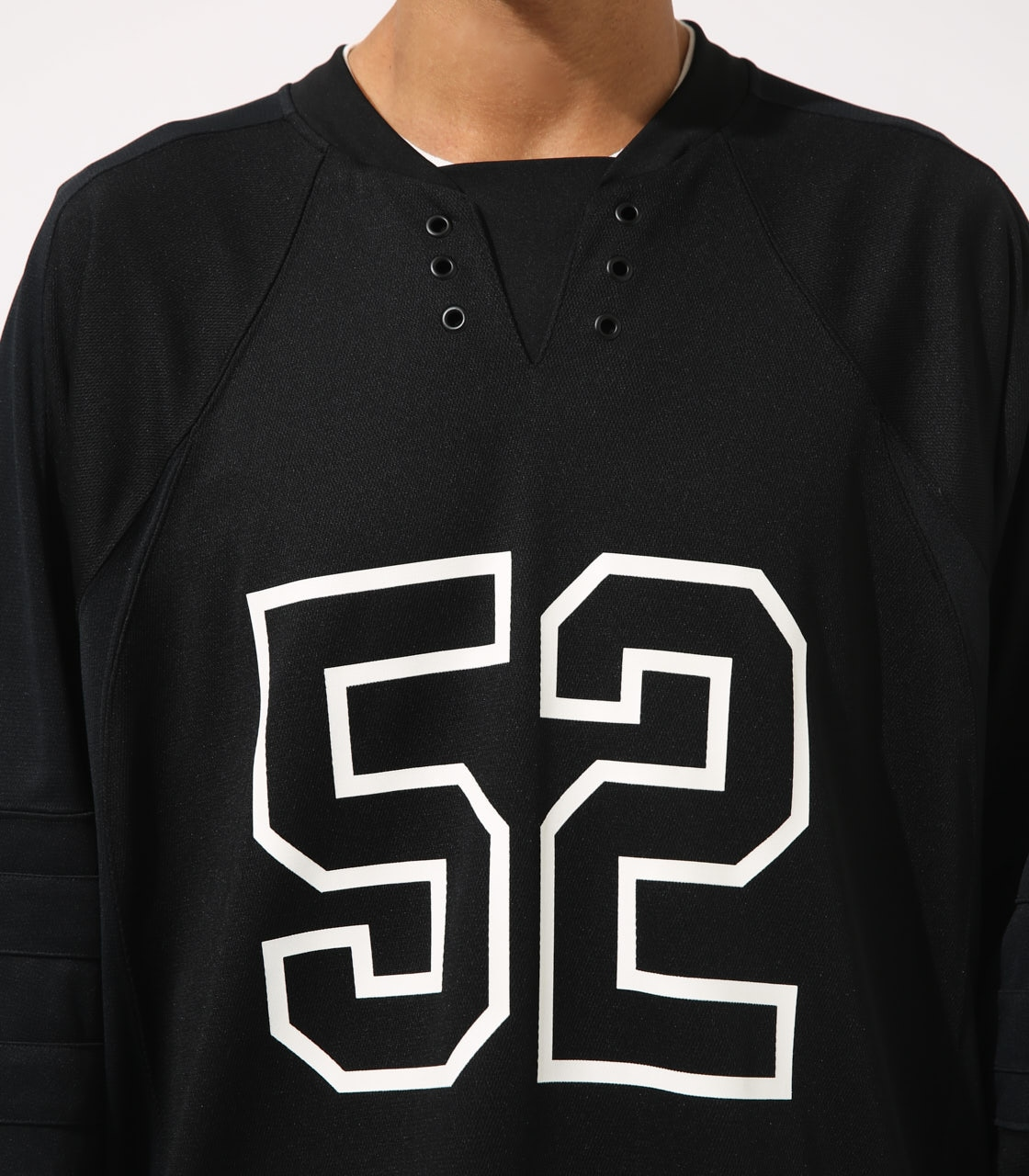 【AZUL BY MOUSSY】HOCKEY UNIFORM TOPS 詳細画像 BLK 8