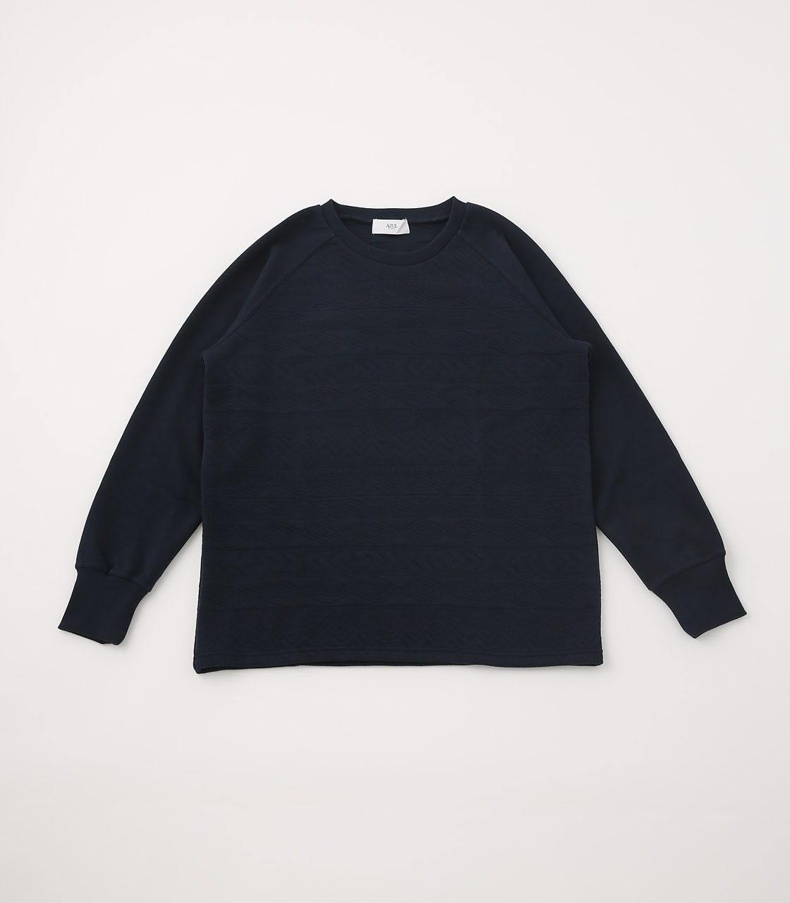 【AZUL BY MOUSSY】MATELASSE RAGLAN TOPS 詳細画像 BLK 1