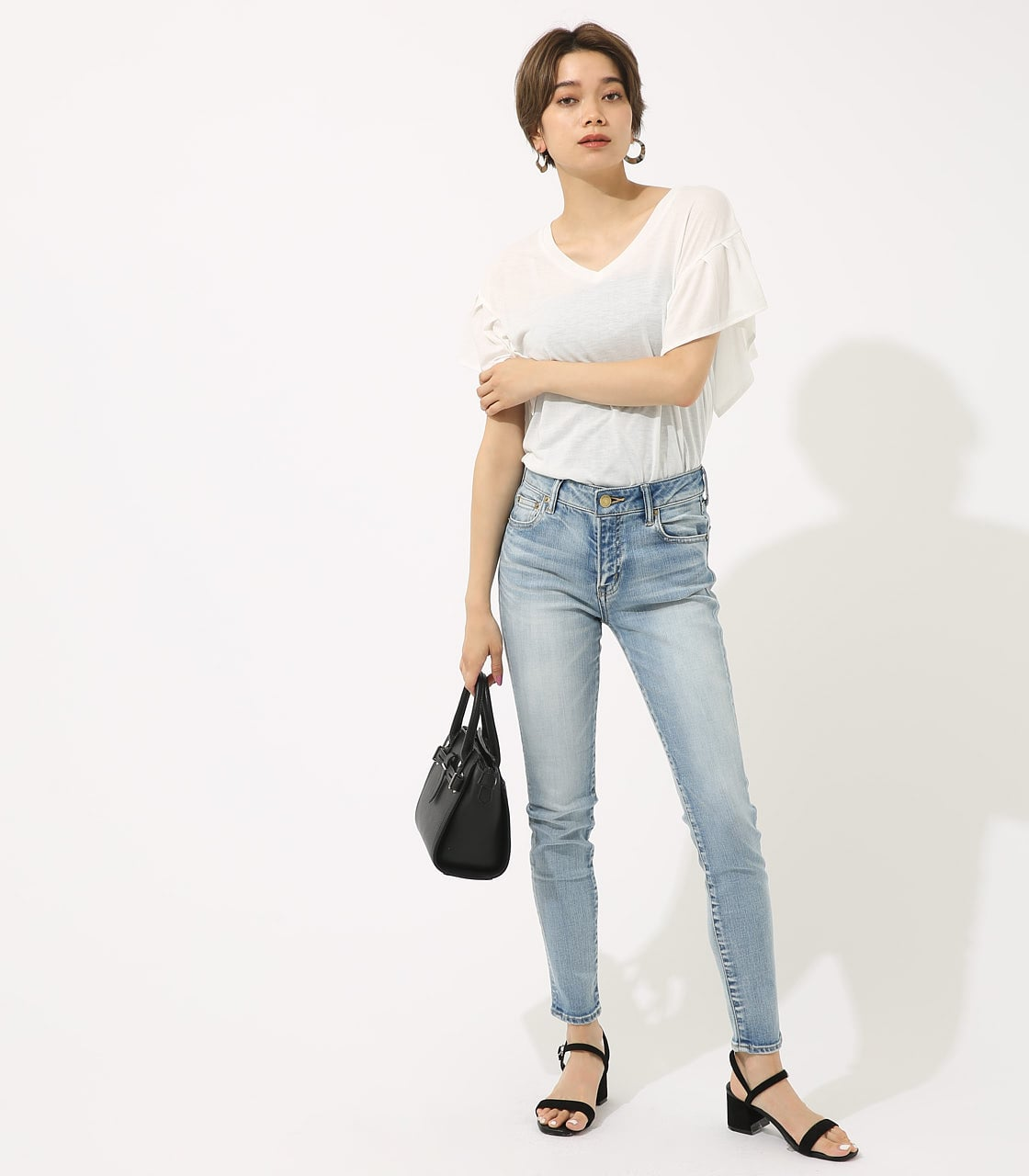 【AZUL BY MOUSSY】SOFT TOUCH スキニー 詳細画像 L/BLU 3