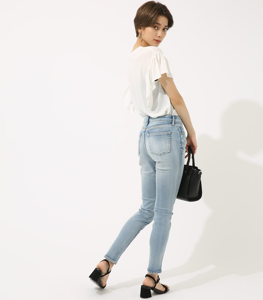 【AZUL BY MOUSSY】SOFT TOUCH スキニー 詳細画像 L/BLU 4