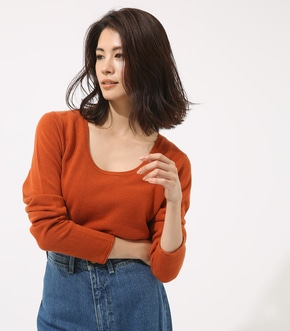 【AZUL BY MOUSSY】ベーシックUネックプルオーバー 【MOOK48掲載 98018】