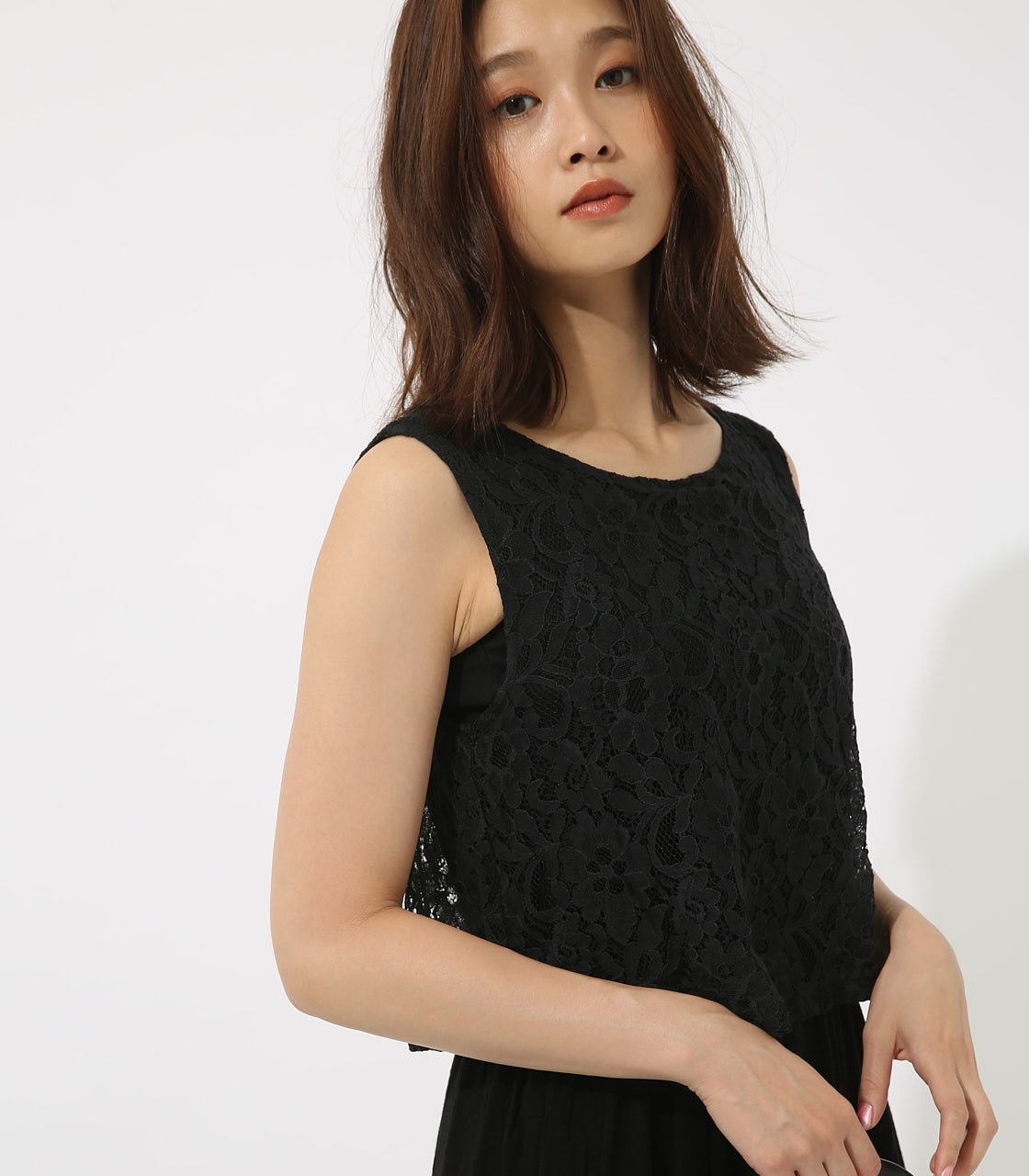 【AZUL BY MOUSSY】レースドッキングワンピース 詳細画像 BLK 3