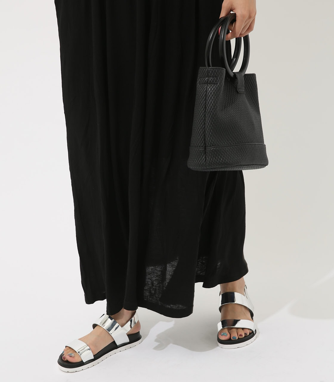 【AZUL BY MOUSSY】レースドッキングワンピース 詳細画像 BLK 4