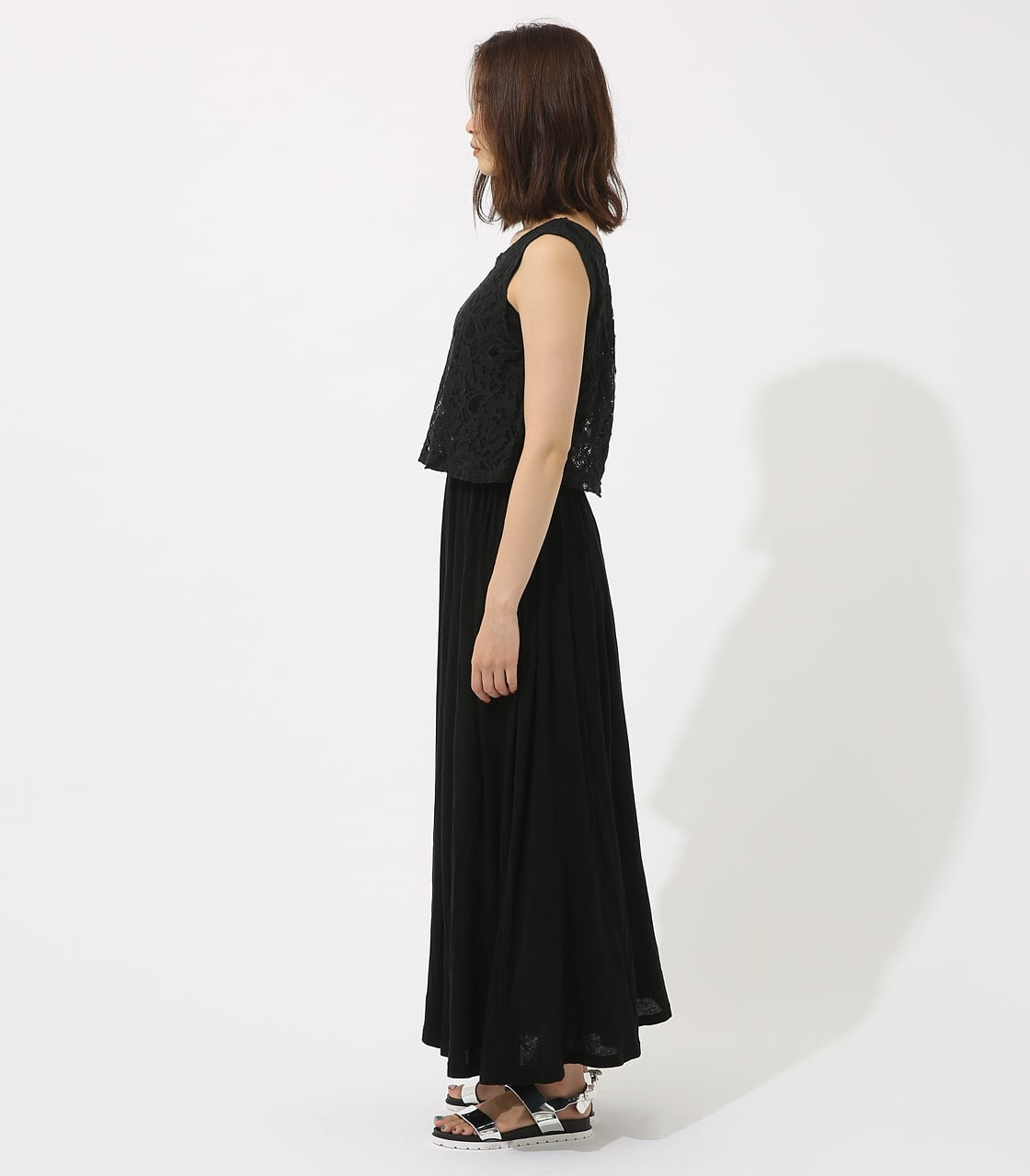【AZUL BY MOUSSY】レースドッキングワンピース 詳細画像 BLK 6