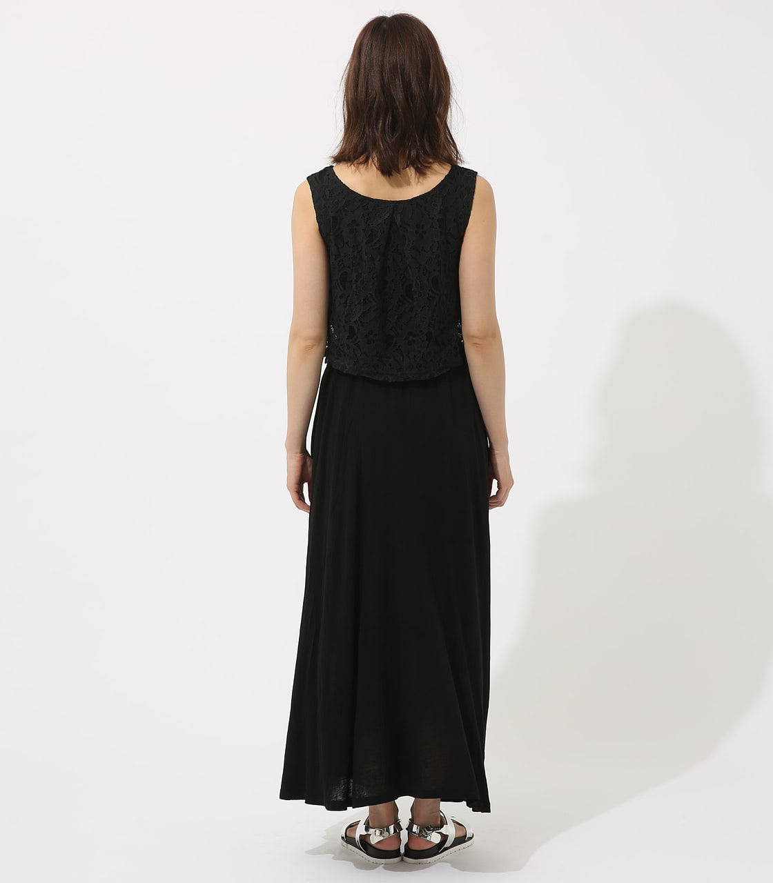 【AZUL BY MOUSSY】レースドッキングワンピース 詳細画像 BLK 7