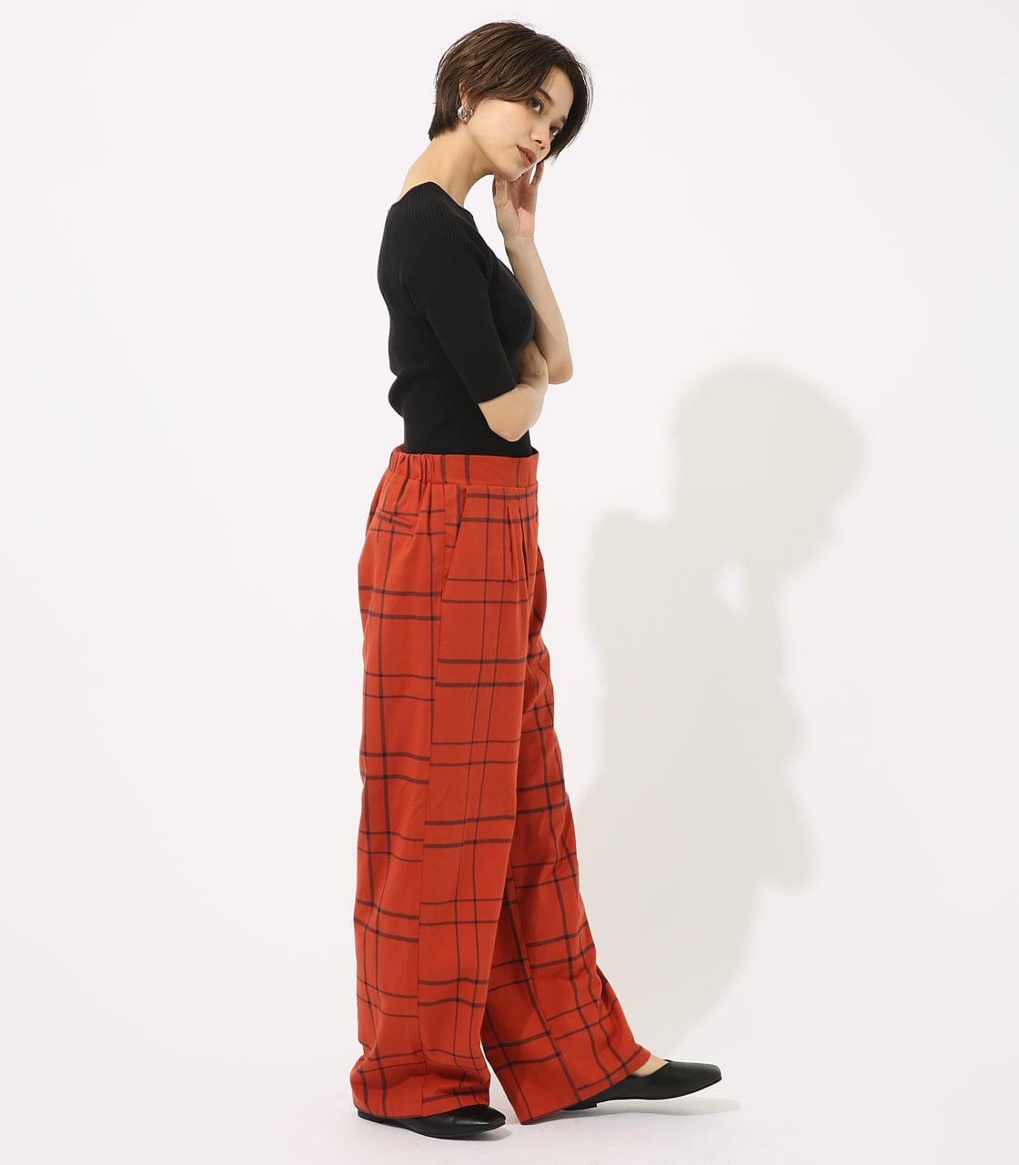 【AZUL BY MOUSSY】CALIF チェックワイドパンツ 詳細画像 柄ORG 4
