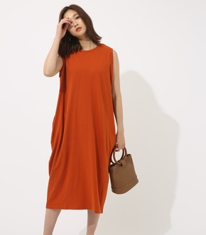 【AZUL BY MOUSSY】CUTノースリロングコクーンワンピース