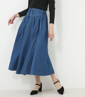 【AZUL BY MOUSSY】レースアップフレアスカート