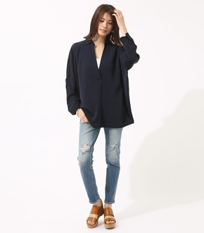 【AZUL BY MOUSSY】クラッシュデニムスキニー【MOOK46掲載 94032】 詳細画像