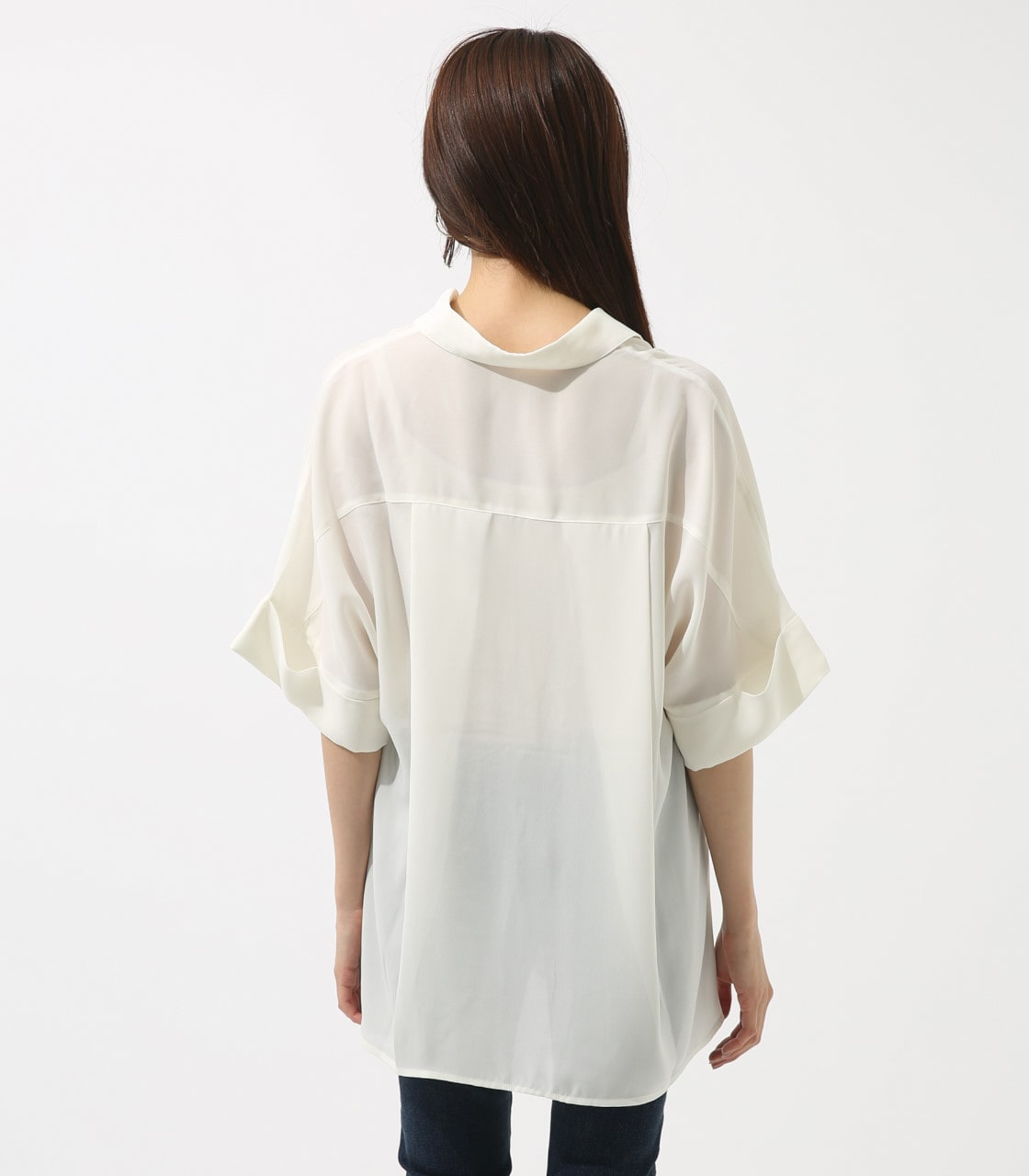【AZUL BY MOUSSY】ルーズスキッパーシャツ 詳細画像 O/WHT 7