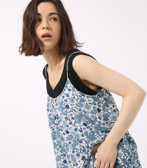 【AZUL BY MOUSSY】ペイズリープリントシフォンキャミ