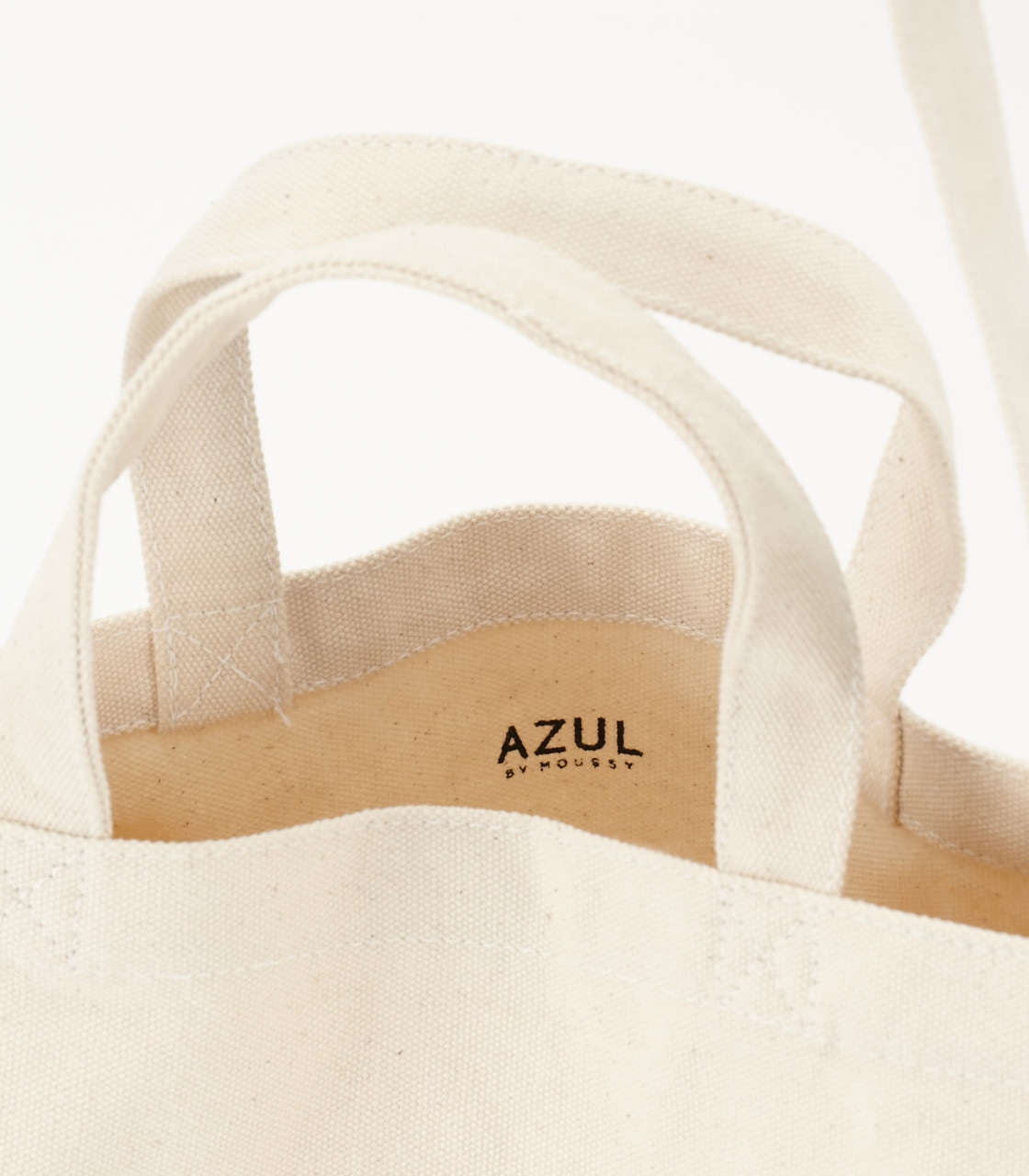 《WEB限定サマーセール》【AZUL BY MOUSSY】BACKROOMSキャンバストートバッグ 詳細画像 柄WHT 2