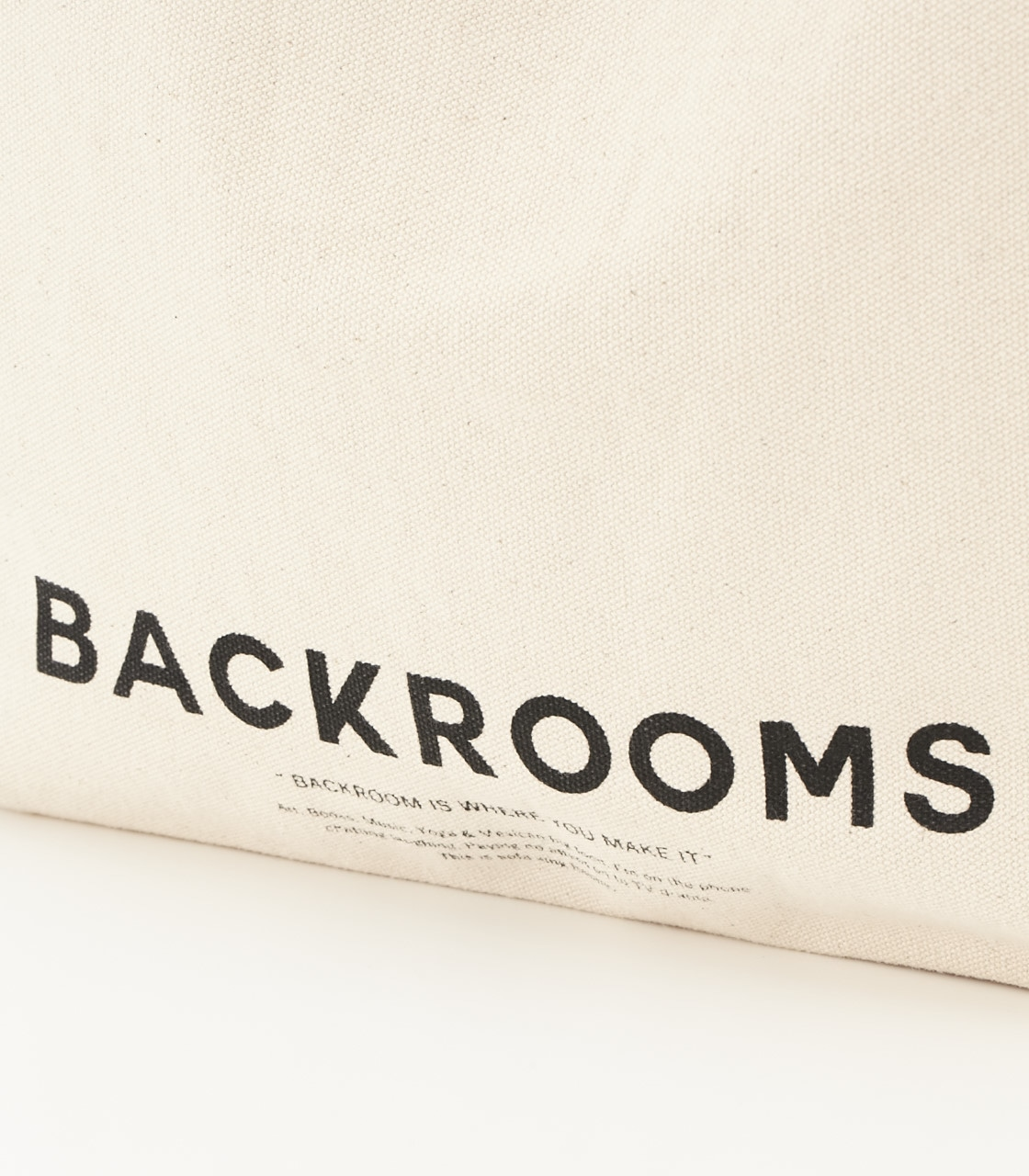《WEB限定サマーセール》【AZUL BY MOUSSY】BACKROOMSキャンバストートバッグ 詳細画像 柄WHT 3