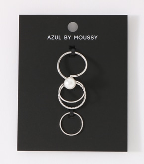 【AZUL BY MOUSSY】アクリルパールリングSET