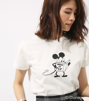 【AZUL BY MOUSSY】モノクロ OLD MICKEY TEE【MOOK46掲載 94027】