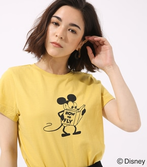 【AZUL BY MOUSSY】モノクロ OLD MICKEY TEE