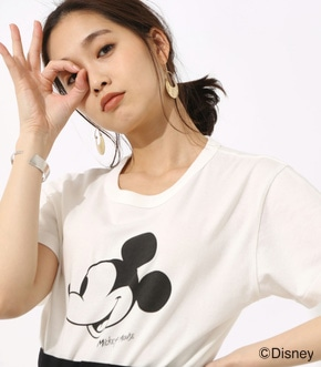 【AZUL BY MOUSSY】Mickey Mouse TEE【MOOK46掲載 94025】