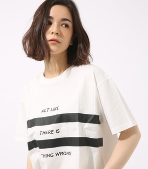 【AZUL BY MOUSSY】ダブルラインロゴTEE