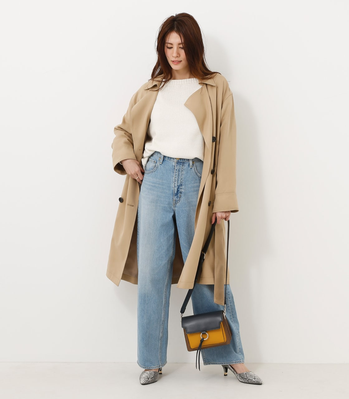 【AZUL BY MOUSSY】スプリングトレンチコート 詳細画像 BEG 1