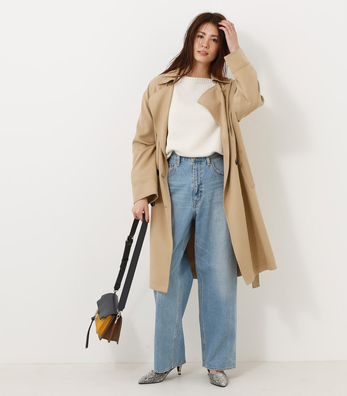 【AZUL BY MOUSSY】スプリングトレンチコート 詳細画像 BEG 2