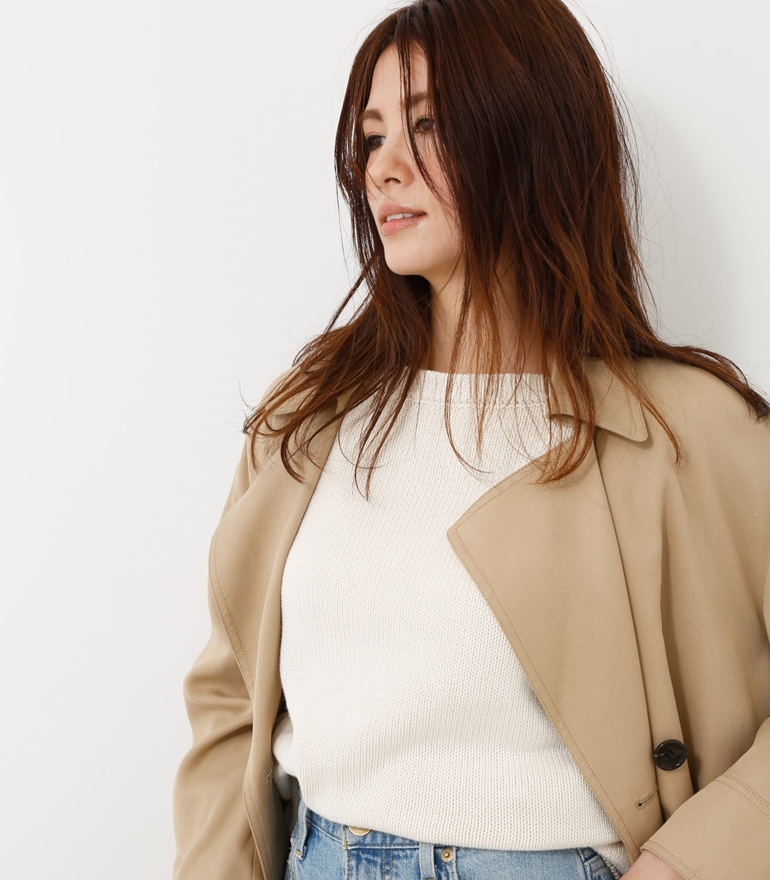 【AZUL BY MOUSSY】スプリングトレンチコート 詳細画像 BEG 4