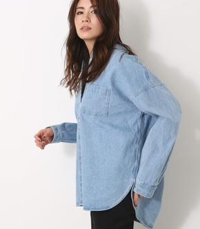【AZUL BY MOUSSY】バックタック長袖シャツ