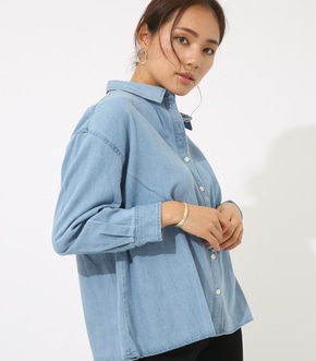 【AZUL BY MOUSSY】デザインデニムシャツ