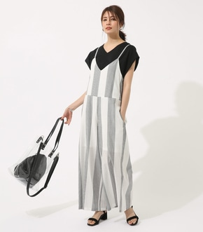 【AZUL BY MOUSSY】BIG STRIPE オールインワン