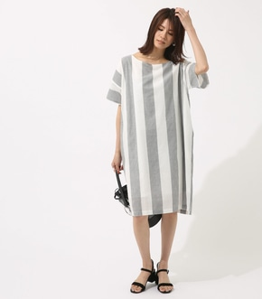 【AZUL BY MOUSSY】BIG STRIPE ワンピース
