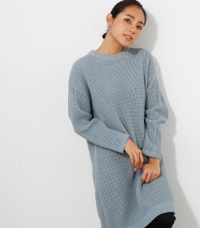 【AZUL BY MOUSSY】ワッフル編みチュニックワンピース