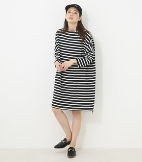 【AZUL BY MOUSSY】ボーダーCUTオーバーワンピ