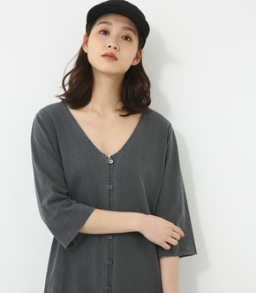 【AZUL BY MOUSSY】ピグメントカットロングカーディガン