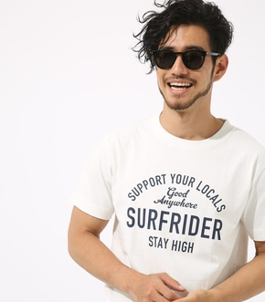 【AZUL BY MOUSSY】SURF RIDERピグメントクルーネック半袖T