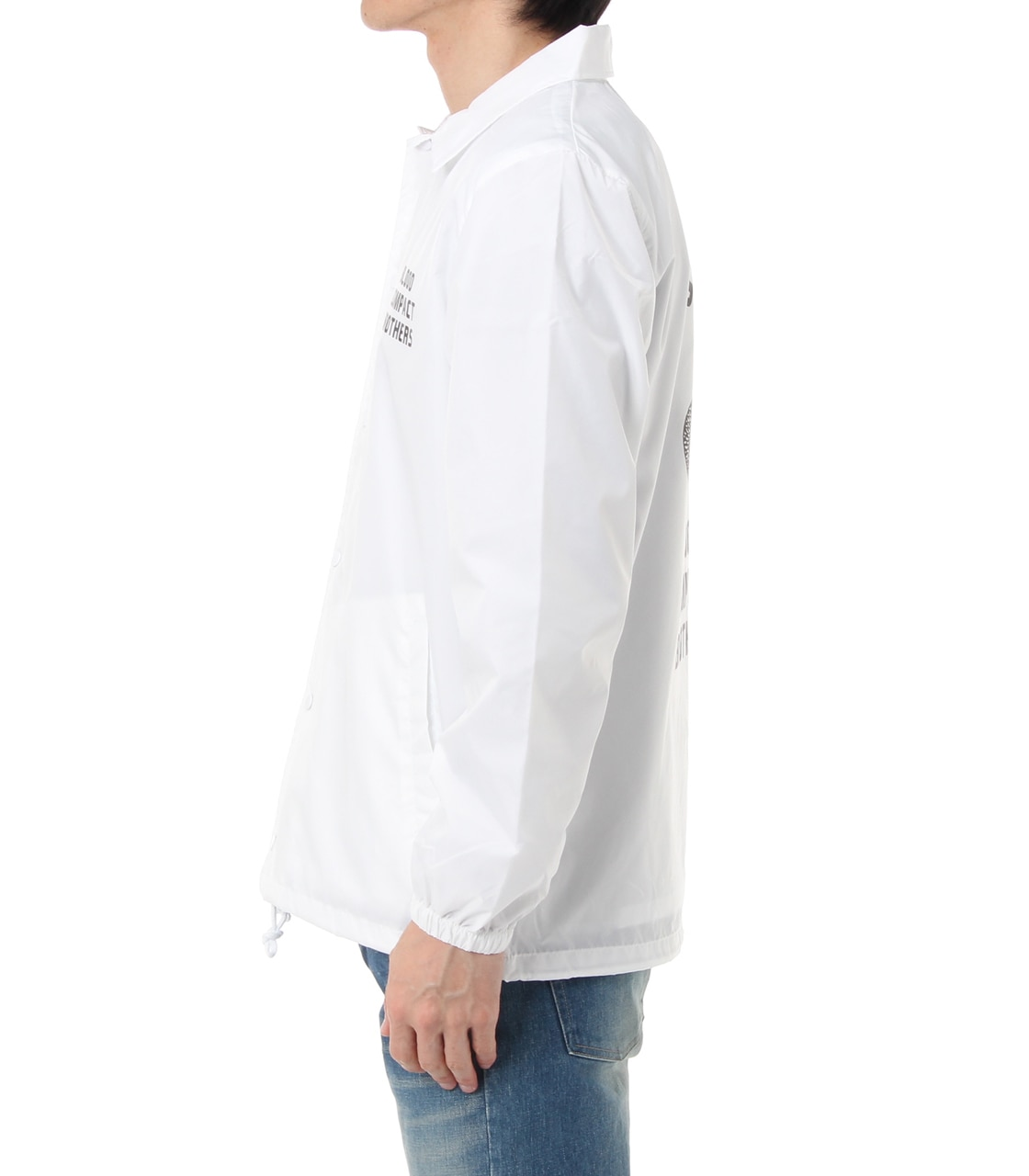 【AZUL BY MOUSSY】コブラプリント COACH JACKET 詳細画像 WHT 3