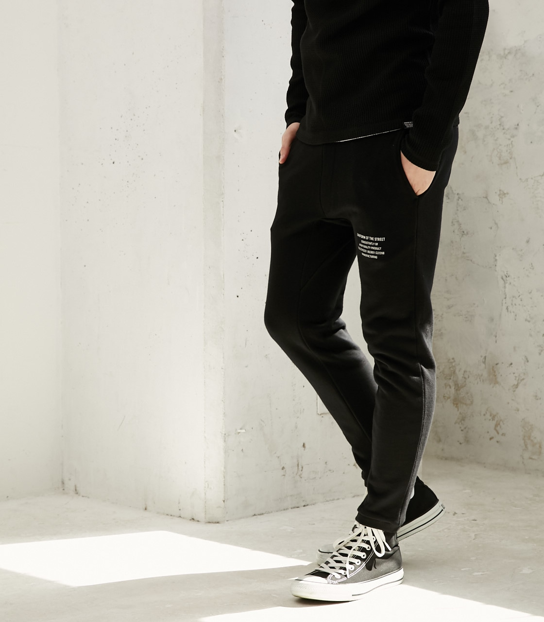 【AZUL BY MOUSSY】UOTS スウェットパンツ 詳細画像 BLK 2
