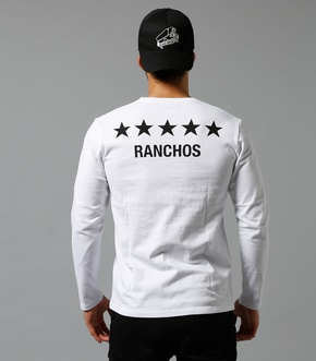 【AZUL BY MOUSSY】RANCHOS Vネック長袖T 詳細画像