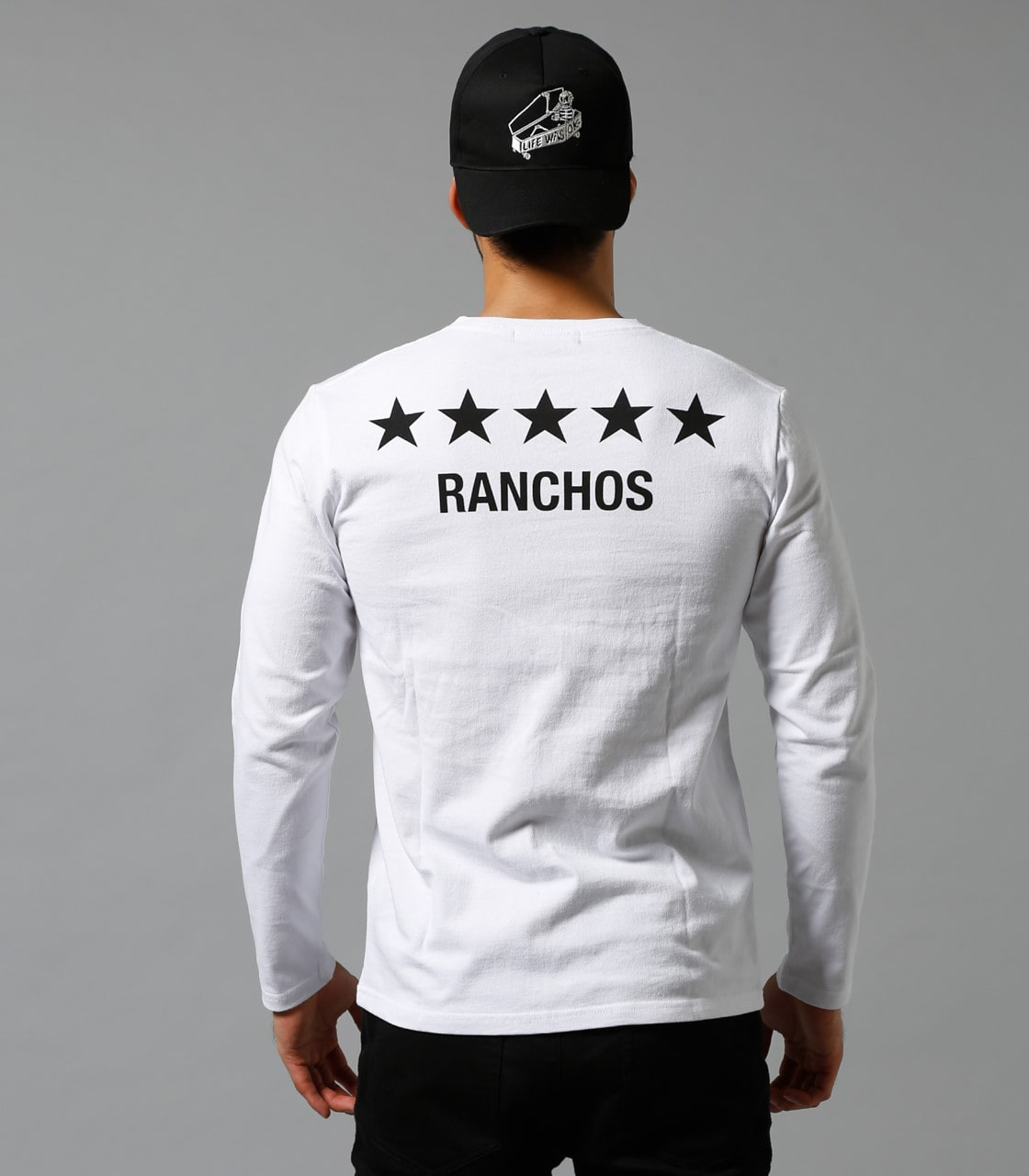 【AZUL BY MOUSSY】RANCHOS Vネック長袖T 詳細画像 WHT 7