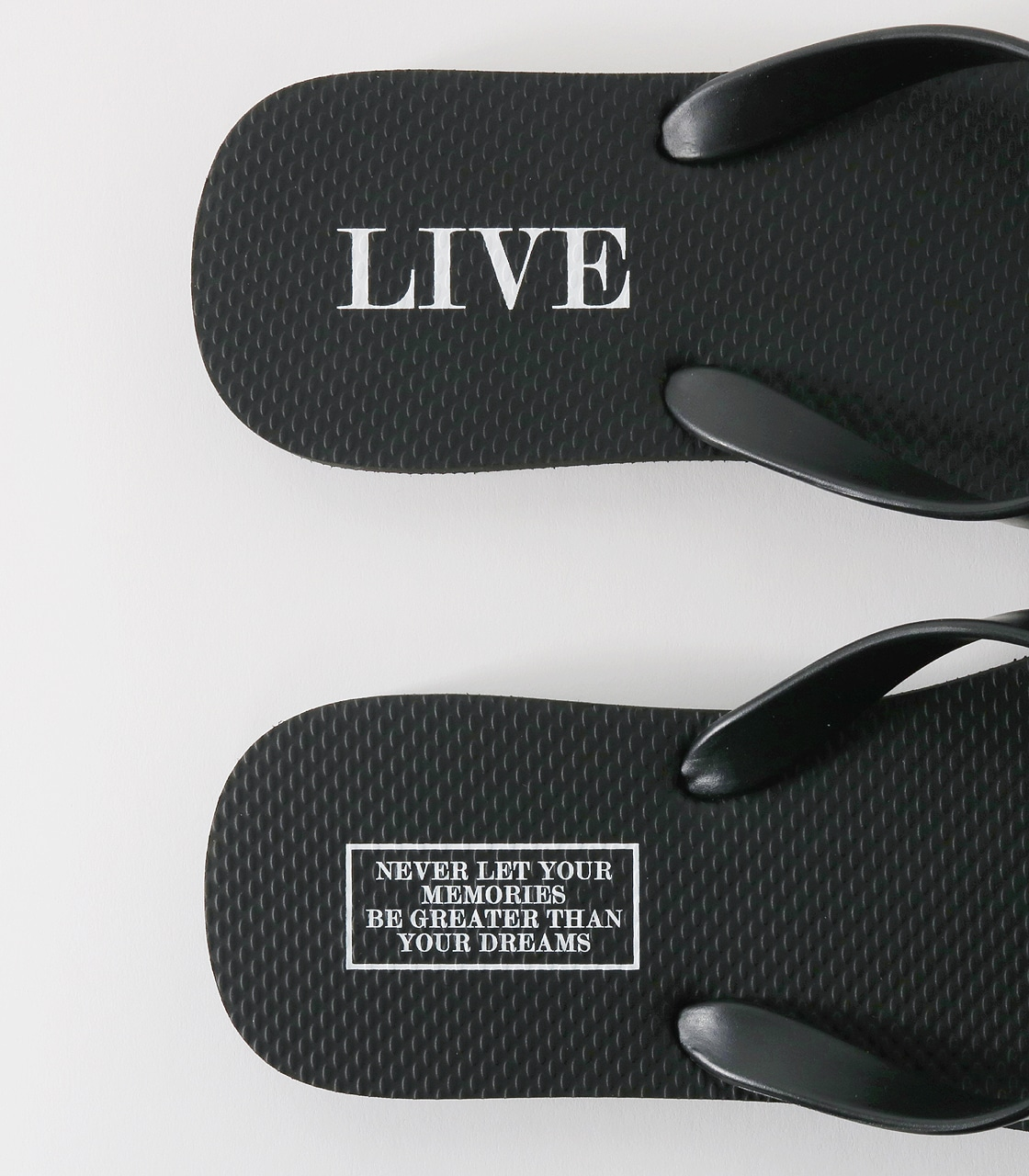 【AZUL BY MOUSSY】LIVE メッセージビーチサンダル 詳細画像 BLK 8
