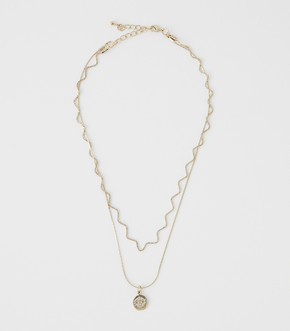 COIN DOUBLE STRAND NECKLACE/コインダブルスタンドネックレス