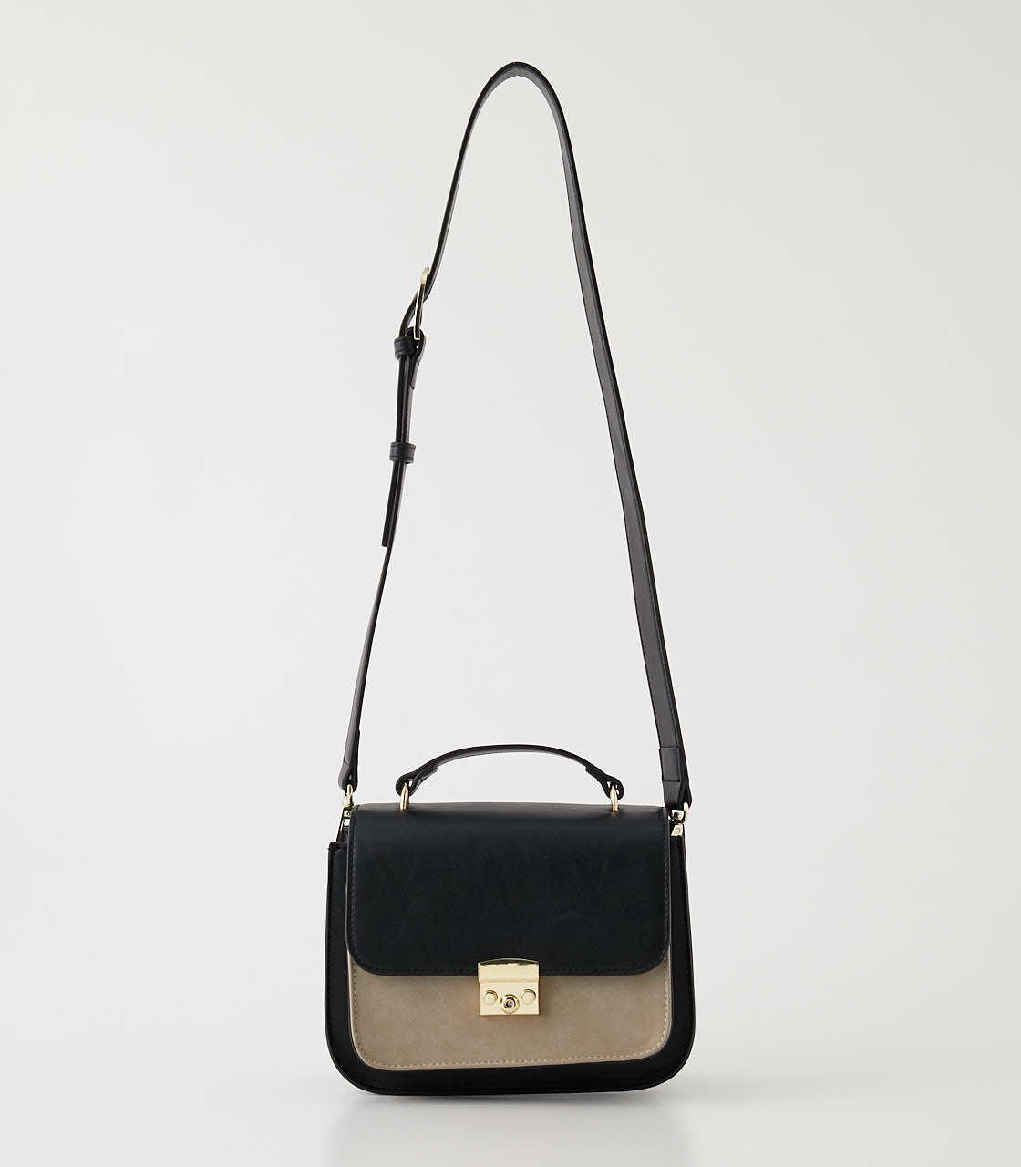 COLOR CONTRAST SHOULDER BAG/カラーコントラストショルダーバッグ 詳細画像 BLK 1