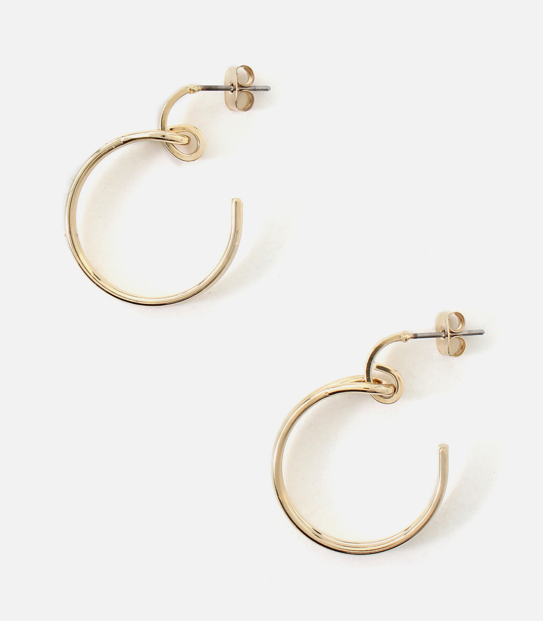 SWAYING HOOP EARRINGS/スウェイングフープピアス 詳細画像 L/GLD 1