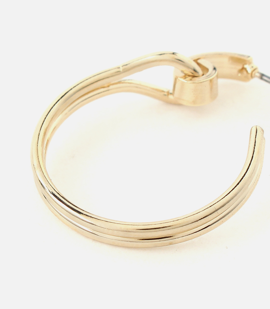 SWAYING HOOP EARRINGS/スウェイングフープピアス 詳細画像 L/GLD 4
