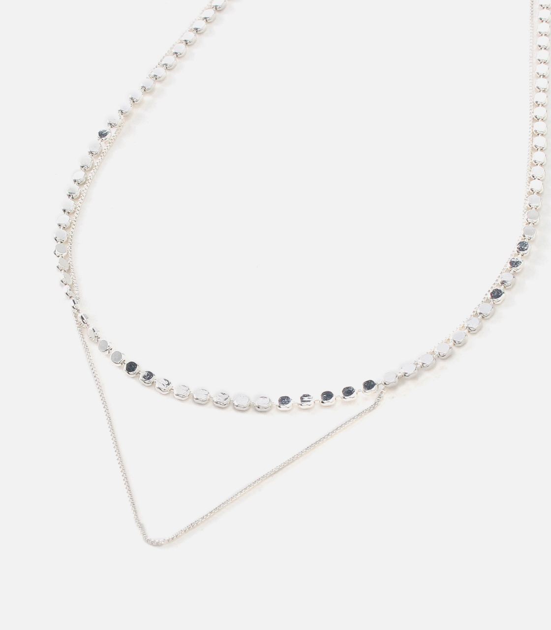 CIRCLE CHAIN NECKLACE/サークルチェーンネックレス 詳細画像 SLV 2