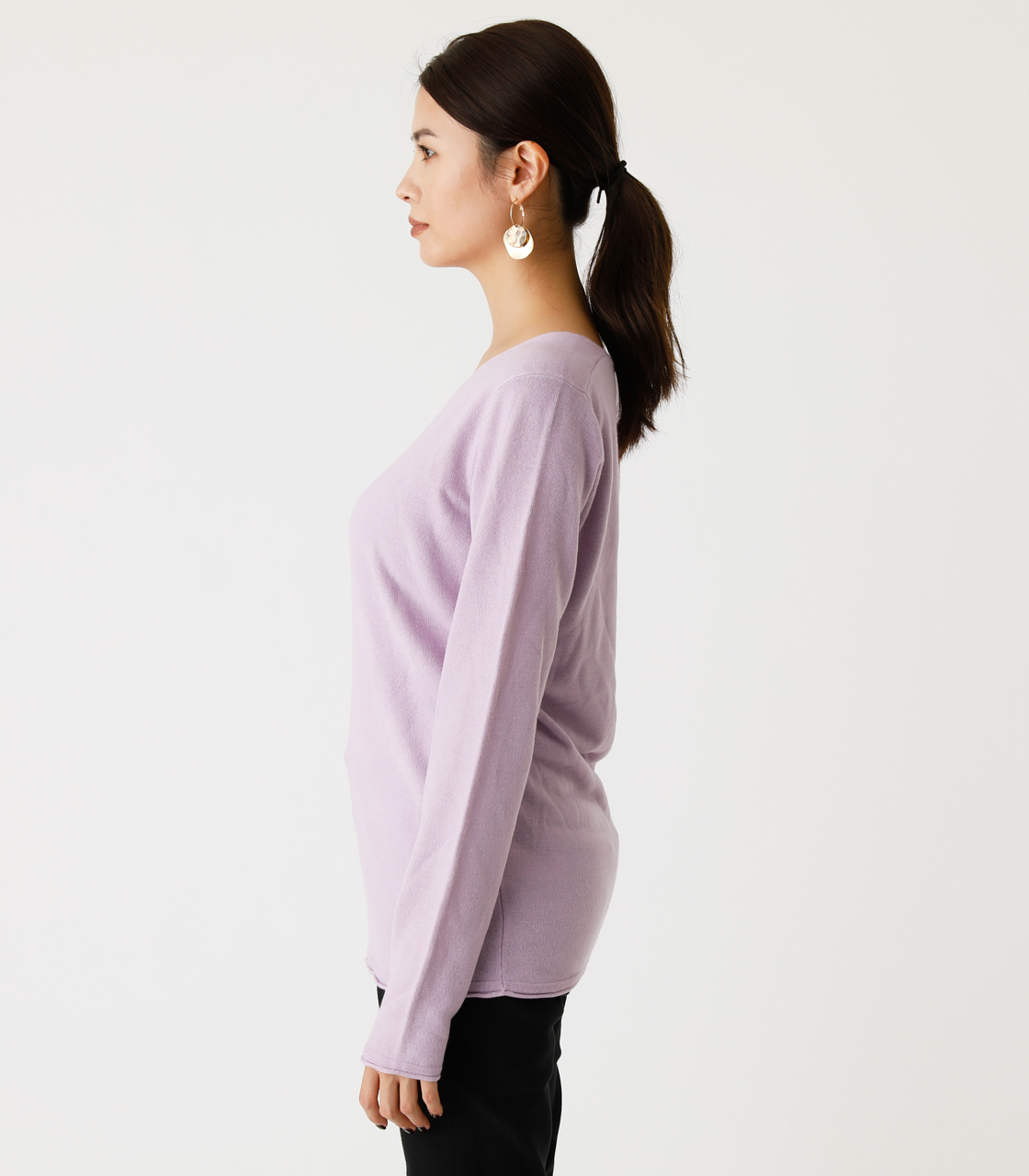 NUDIE V/N KNIT TOPS Ⅲ/ヌーディーVネックニットトップスⅢ 詳細画像 L/PUR 5