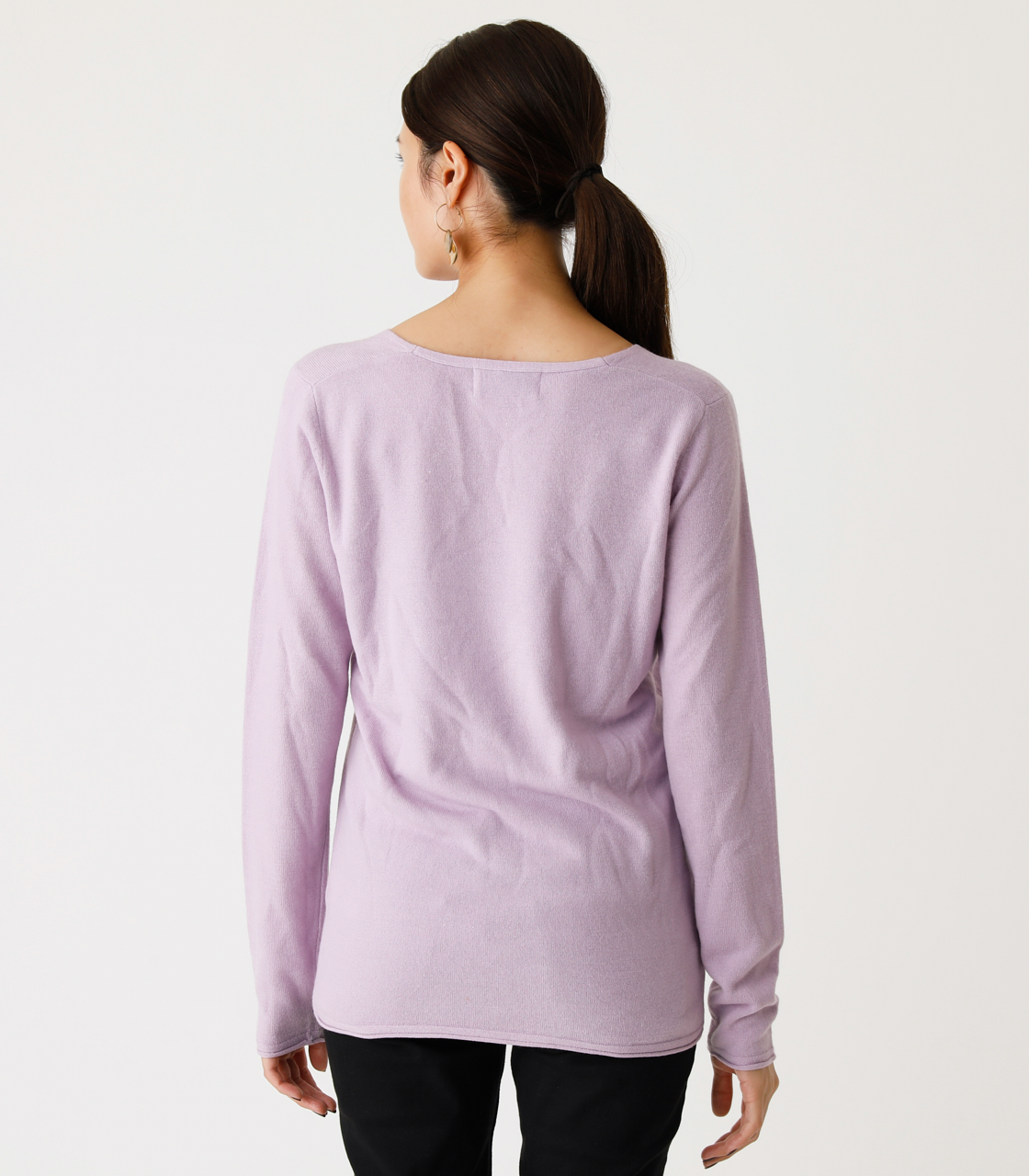 NUDIE V/N KNIT TOPS Ⅲ/ヌーディーVネックニットトップスⅢ 詳細画像 L/PUR 6